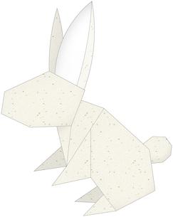 うさぎ(折紙風)のイラスト素材 [FYI03452927]