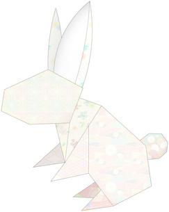 うさぎ(折紙風)のイラスト素材 [FYI03452928]