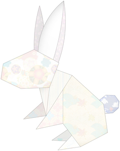 うさぎ(折紙風)のイラスト素材 [FYI03452929]