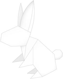 うさぎ(折紙風)のイラスト素材 [FYI03452931]