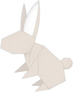 うさぎ(折紙風)のイラスト素材 [FYI03452932]