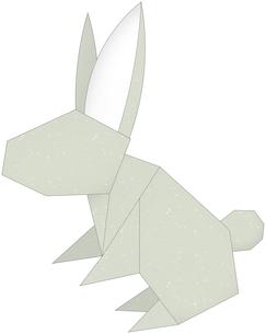 うさぎ(折紙風)のイラスト素材 [FYI03452933]