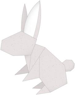 うさぎ(折紙風)のイラスト素材 [FYI03452934]