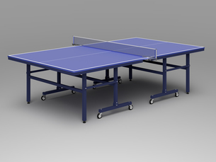 一般的な卓球台(3D CG画像)のイラスト素材 [FYI03452936]