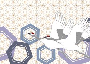 つるをモチーフに和紋様をあしらった和柄カットのイラスト素材 [FYI03453147]