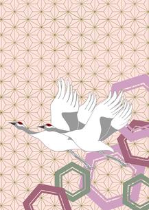 つるをモチーフに和紋様をあしらった和柄カットのイラスト素材 [FYI03453149]