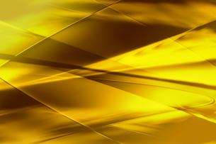 ゴールドメタリックなクールなガラス質感のアブストラクトの写真素材 [FYI03453457]
