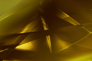 ゴールドメタリックなクールなガラス質感のアブストラクトの写真素材 [FYI03453460]