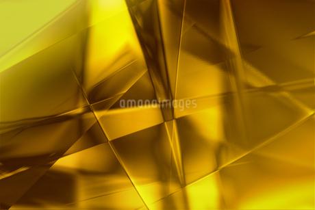 ゴールドメタリックなクールなガラス質感のアブストラクトのイラスト素材 [FYI03453461]