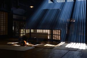 妻籠宿脇本陣 囲炉裏の写真素材 [FYI03453906]