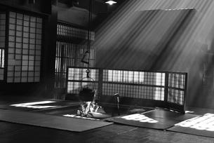 妻籠宿脇本陣 モノクロの写真素材 [FYI03453913]