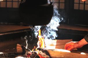 妻籠宿脇本陣 囲炉裏の写真素材 [FYI03453935]