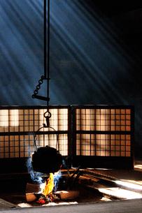 妻籠宿脇本陣 囲炉裏の写真素材 [FYI03453941]