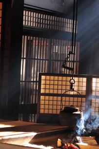 妻籠宿脇本陣 囲炉裏の写真素材 [FYI03453947]