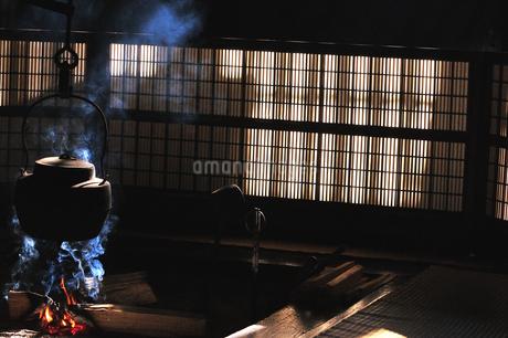 妻籠宿脇本陣 囲炉裏の写真素材 [FYI03453949]