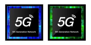 5G第5世代移動通信システムCPUプロセッサのアイコンイラストイメージ素材のイラスト素材 [FYI03454040]