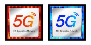 5G第5世代移動通信システムCPUプロセッサのベクターアイコンイラストイメージ素材のイラスト素材 [FYI03454041]