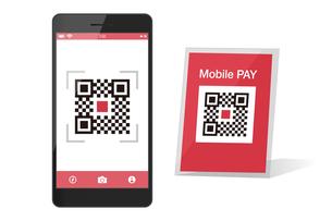 スマホ決済QRアプリのスマートフォンイメージイラスト素材のイラスト素材 [FYI03454105]