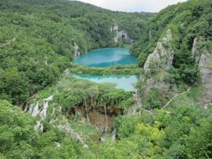 クロアチアの世界遺産、プリトヴィツェ国立公園の写真素材 [FYI03454124]