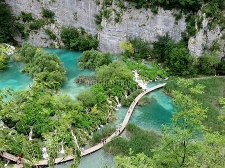 クロアチアの世界遺産、プリトヴィツェ国立公園の写真素材 [FYI03454127]