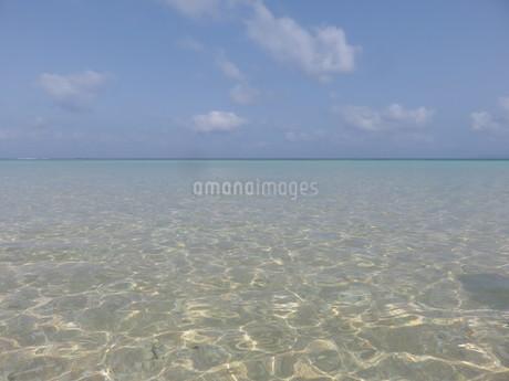 沖縄、波照間島の透明な海の写真素材 [FYI03454130]