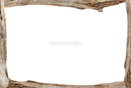 木で作った飾り枠フレームの写真素材 [FYI03454429]