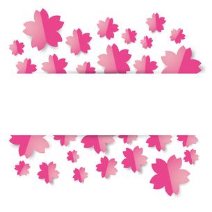 桜 背景のイラスト素材 [FYI03454586]