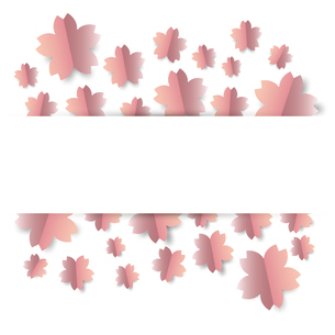 桜 背景のイラスト素材 [FYI03454588]