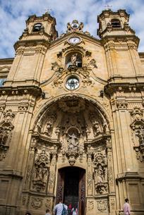 古都サンセバスティアンのサンタマリア教会の写真素材 [FYI03454702]