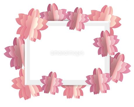 桜 クラフト フレームのイラスト素材 [FYI03454801]