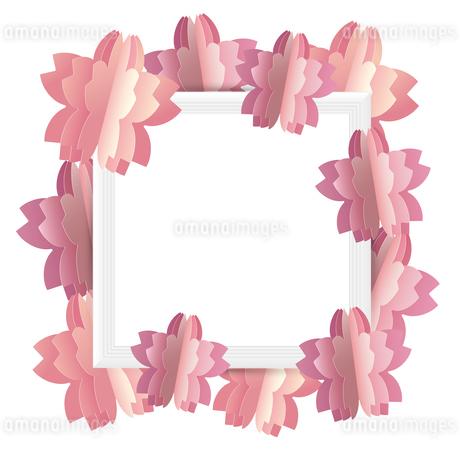 桜 クラフト フレームのイラスト素材 [FYI03454863]