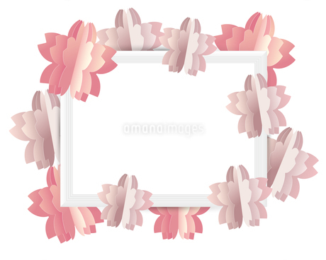 桜 クラフト フレームのイラスト素材 [FYI03454877]