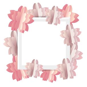 桜 クラフト フレームのイラスト素材 [FYI03454878]