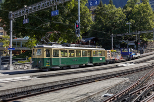 スイス、ベルナーオーバーラント鉄道の写真素材 [FYI03454879]