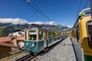 スイス、ベルナーオーバーラント鉄道の写真素材 [FYI03454881]
