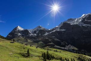 スイス、トップオブヨーロッパ、オーバーラント三山の風景の写真素材 [FYI03454895]