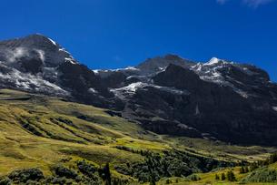 スイス、トップオブヨーロッパ、オーバーラント三山の風景の写真素材 [FYI03454912]
