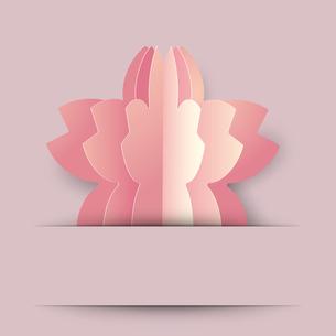 桜 クラフト 背景のイラスト素材 [FYI03454937]