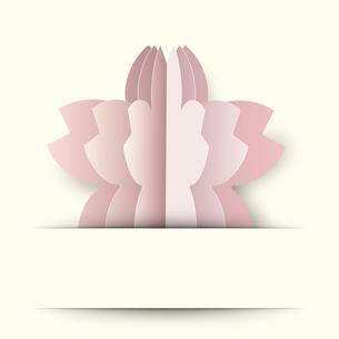 桜 クラフト 背景のイラスト素材 [FYI03454939]