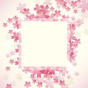 桜 背景 フレームのイラスト素材 [FYI03455654]