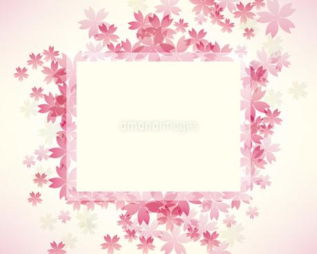 桜 背景 フレームのイラスト素材 [FYI03455902]