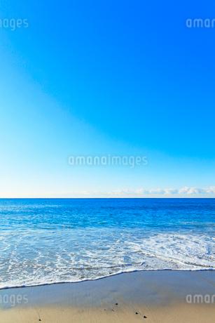浜辺に寄せる波の写真素材 [FYI03455930]