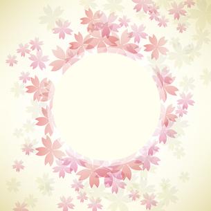桜 背景 フレームのイラスト素材 [FYI03456379]