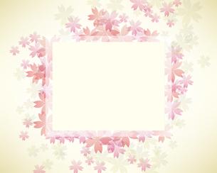 桜 背景 フレームのイラスト素材 [FYI03456482]
