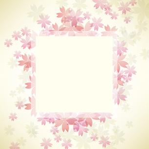 桜 背景 フレームのイラスト素材 [FYI03456513]