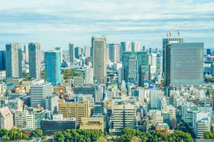 東京タワー展望台から見える東京の街並みの写真素材 [FYI03456596]