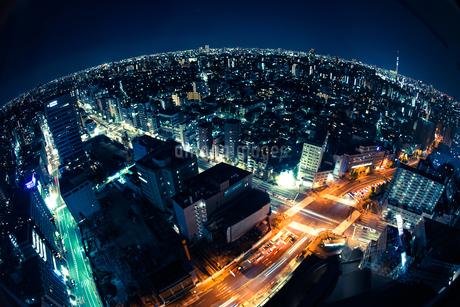 東京の夜景(文京シビックセンターから)の写真素材 [FYI03456615]