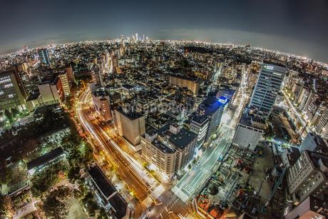 東京の夜景(文京シビックセンターから)の写真素材 [FYI03456731]