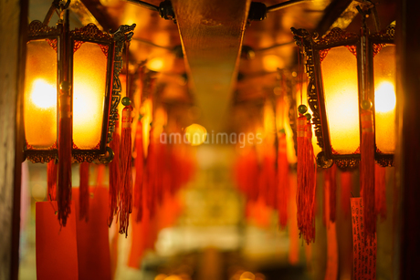 香港・文武廟の写真素材 [FYI03456750]