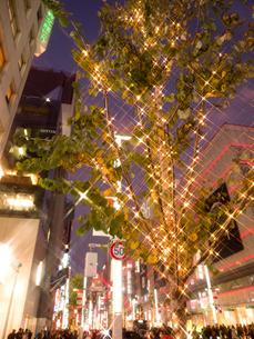 東京都 銀座のイルミネーションの写真素材 [FYI03456925]